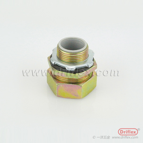 Color Zinc Plated Steel ConnectorStraight