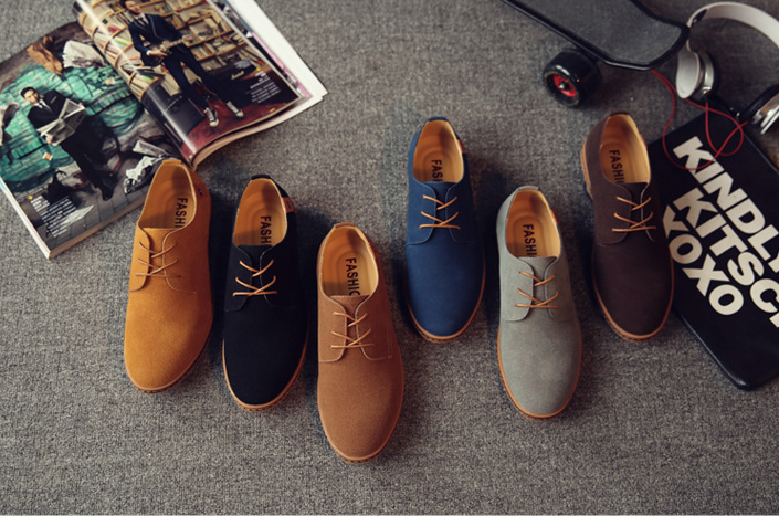 Spring Mens casual Large size Matte Fashion Leather shoes