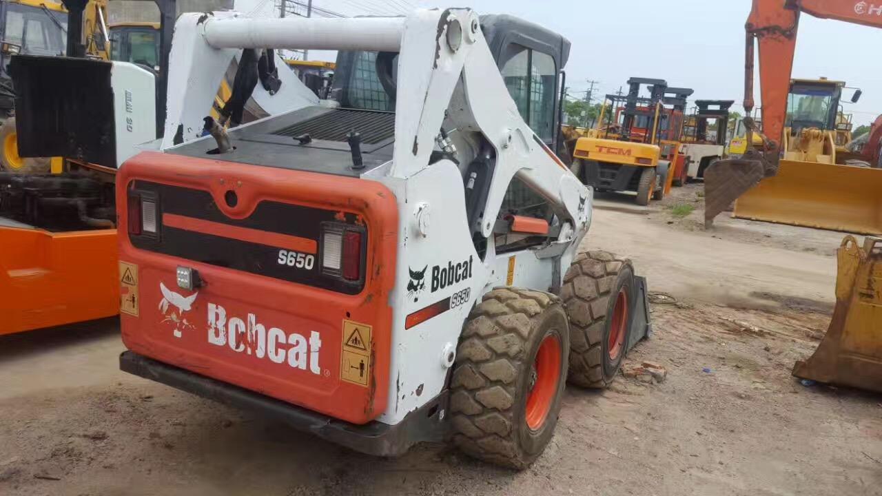 Used good quality bobcat s650 skid steer loaderlow price front loader for sale