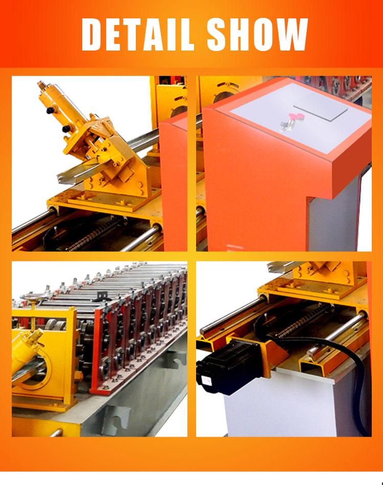 Full Automatic Metal Light Steel Keel Shutter Door Steel Frame Roll Forming Machine
