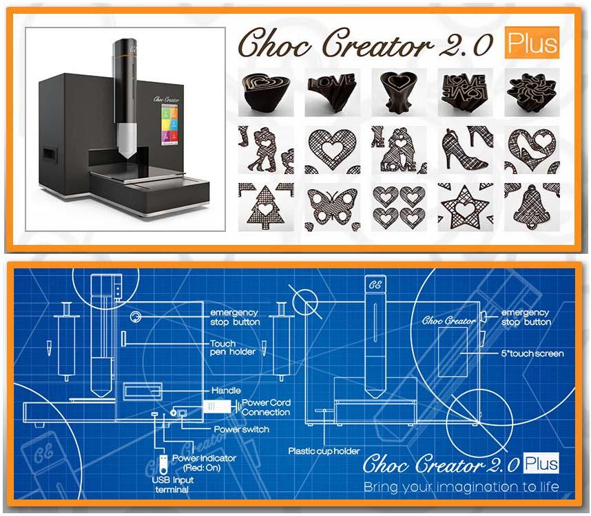 Choc Creator V20 Plus 3D Chocolate Printing 3D ALM ChocolateFood Printing