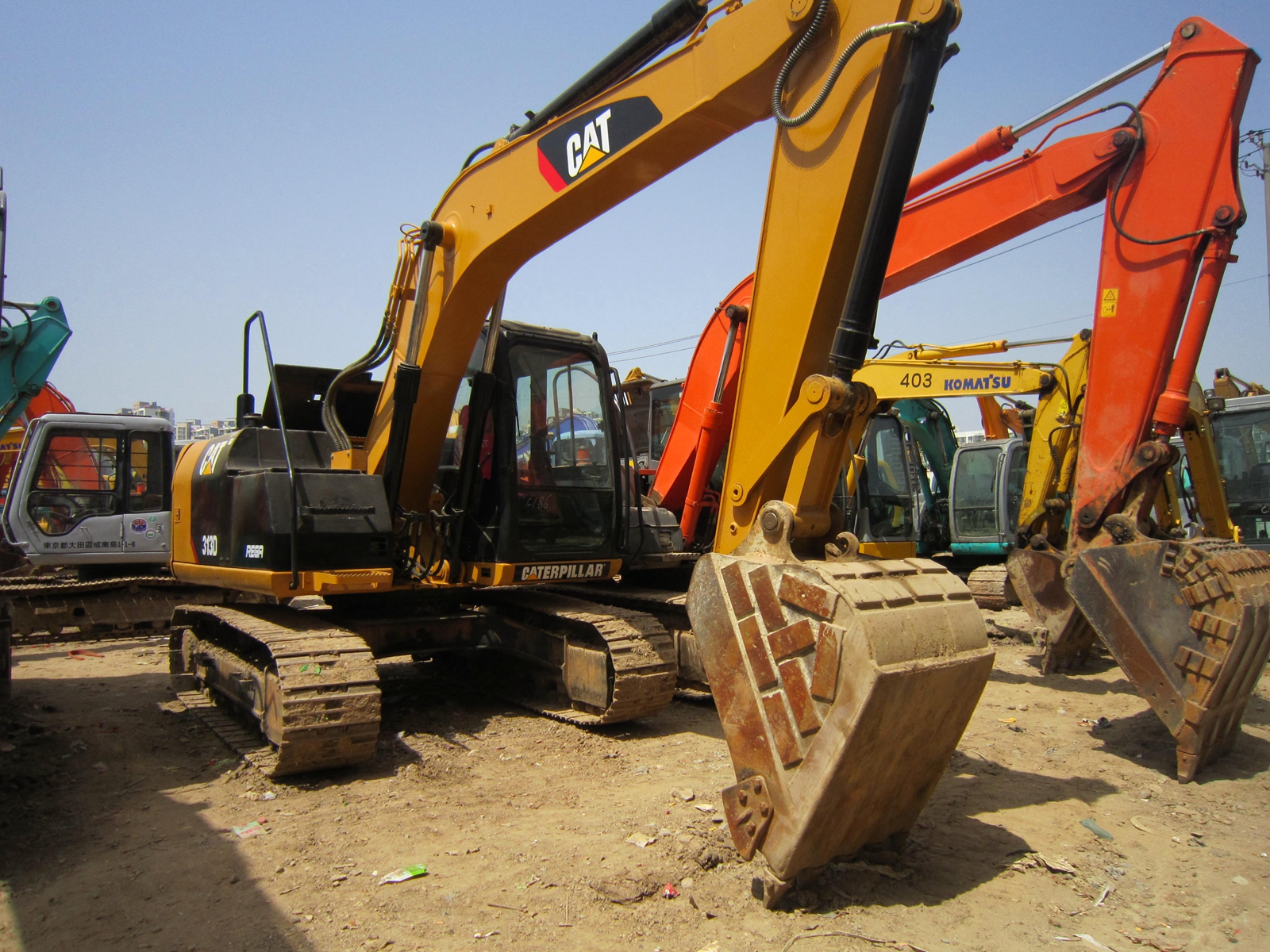 secondhand good condition caterpillar 313D excavator for sale cat 313315D used excavator313DL313DL2 used cat digger