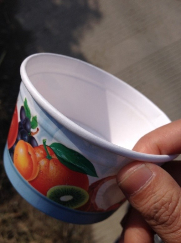 Single pe paper cup machine with heat sealing