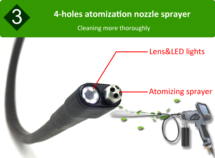 Visual Cleaning Borescope to clean car airconditioner efficiently and effectively