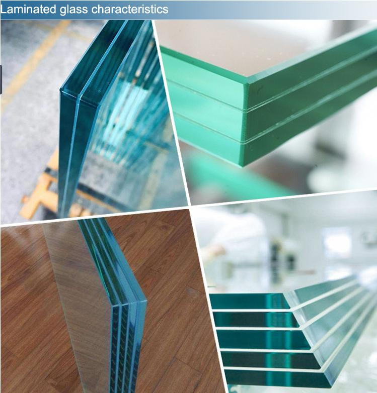 5mm114PVB5mm super clear tempered laminated glass for railing