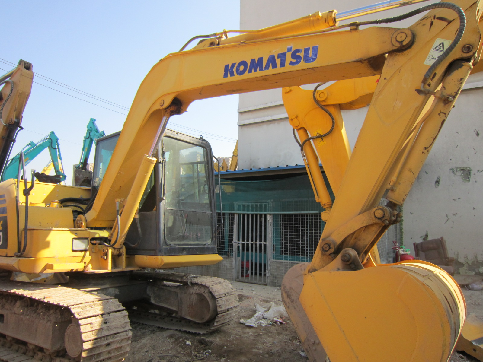 used komatsu PC70 excavator pc70 used mini crawler excavator machine construction equipment for sale