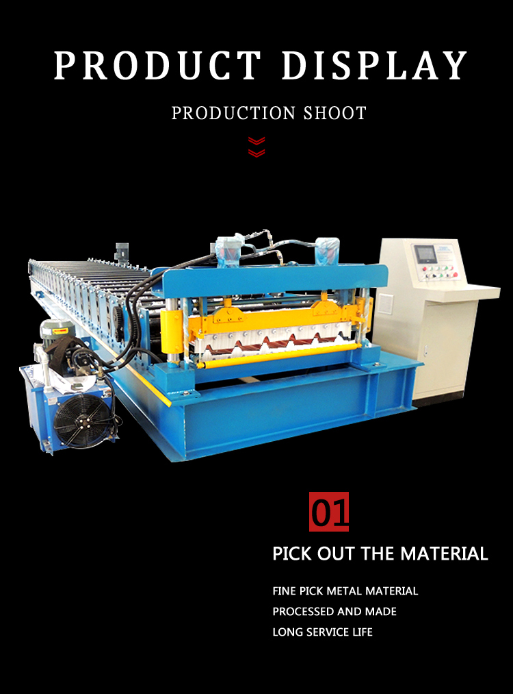 Full Automatic Color Steel Sheet Tile Roofing Sheet Making Roll Forming Machine