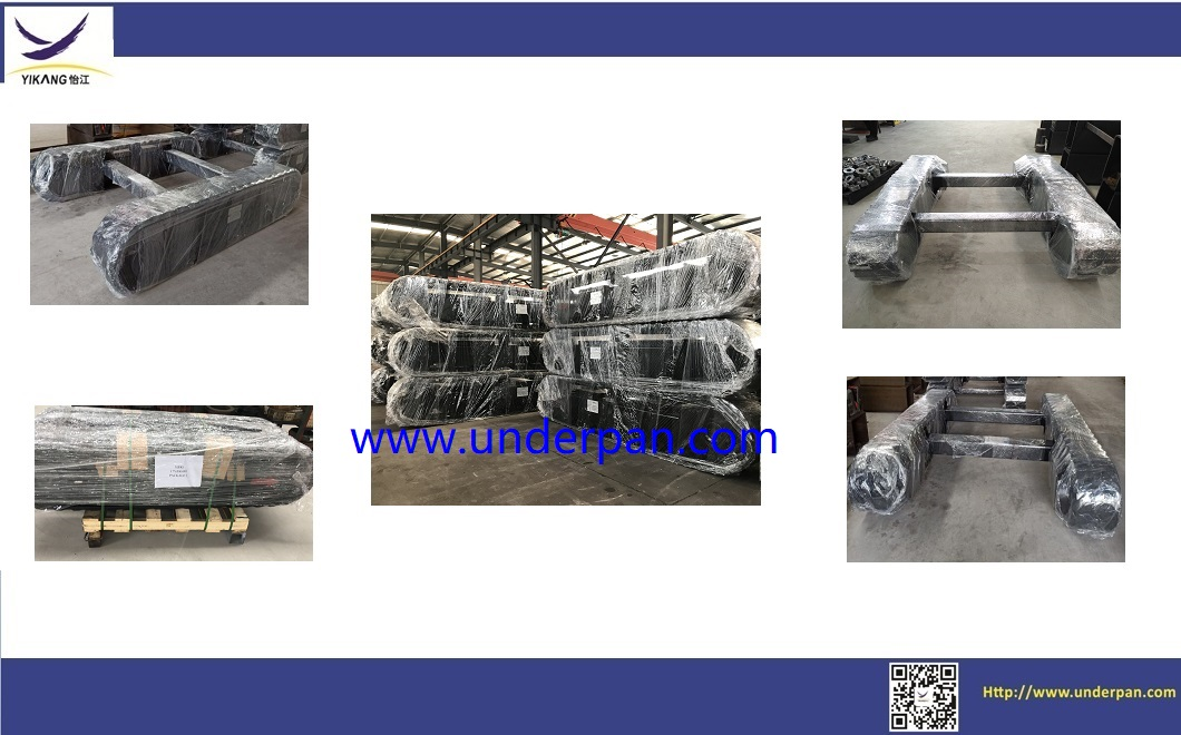 Custom design 1 ton rubber track undercarriage for construction machinery parts