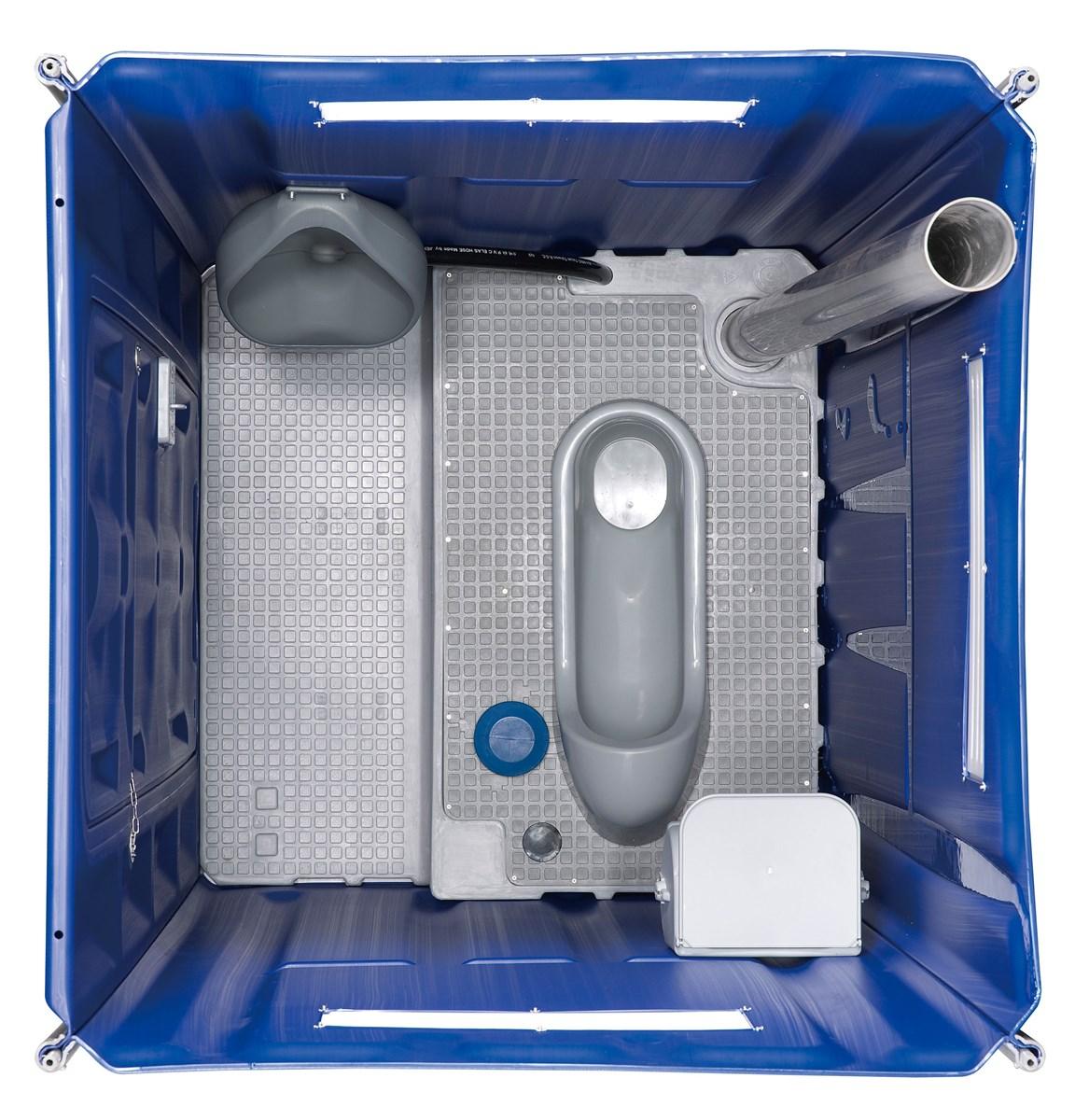 Blow Molded Hdpe Mobiele Toiletten For Build Sites SSQ300 Module Portable Toilets Single PlyFlushing Squat Type
