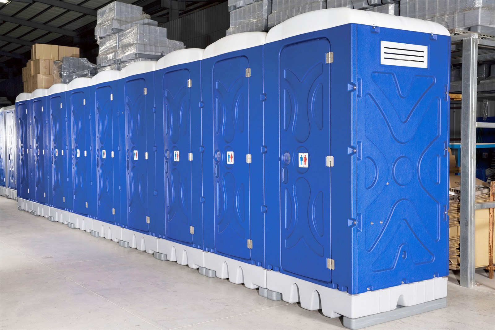 City Temper Movable Toilets with Thick Partition DSQ300 Module Portable Toilets Double Ply Squat Type