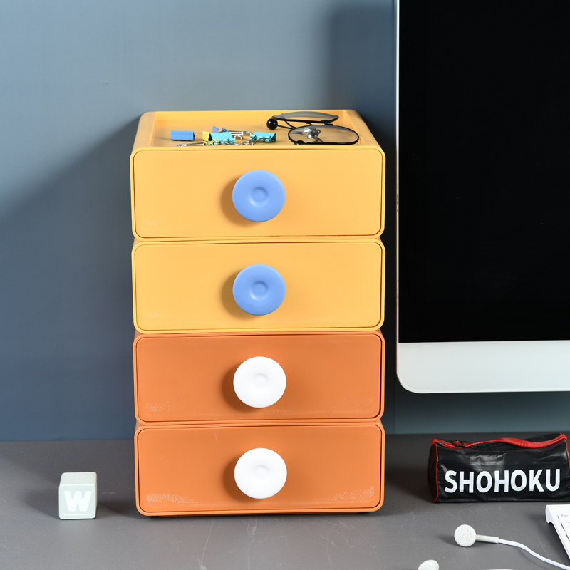 Factory Wholesale Plastic Storage Box Office Desk Organizer PP Bedroom Draw Cabinet