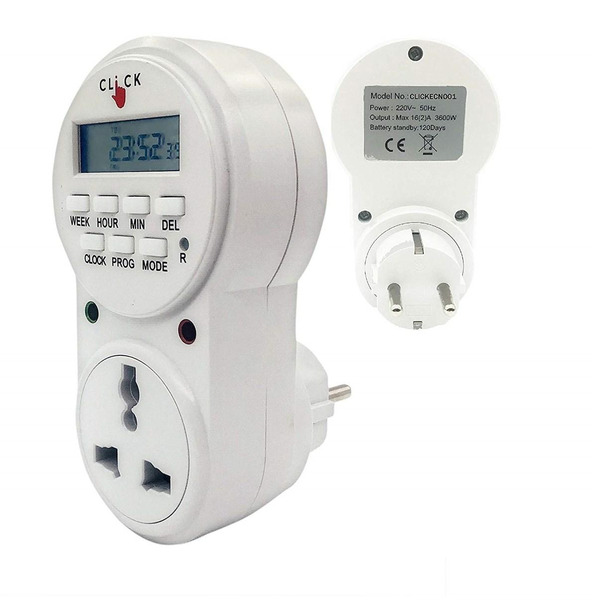 Electrobot Plastic 24x7 Automatic Smart Digital Programmable Timer Switch with Smart Socket Plug