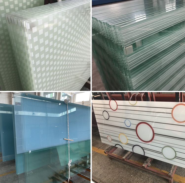 4mm clear silk screen glass for decoration