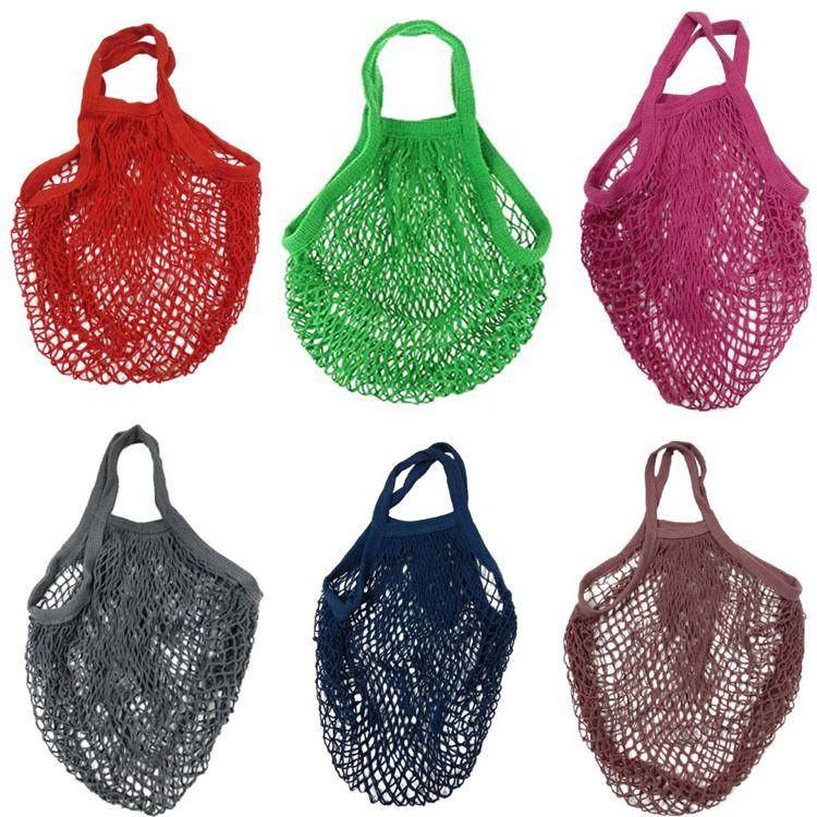 zero waste 100 biodegradable cotton shopping mesh bag custom logo multiple use fruitvegetable bag