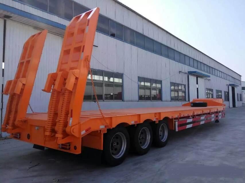 Fuwa axle Low Bed Semi Trailer MaxLoading 5060ton Tyre 1200R20