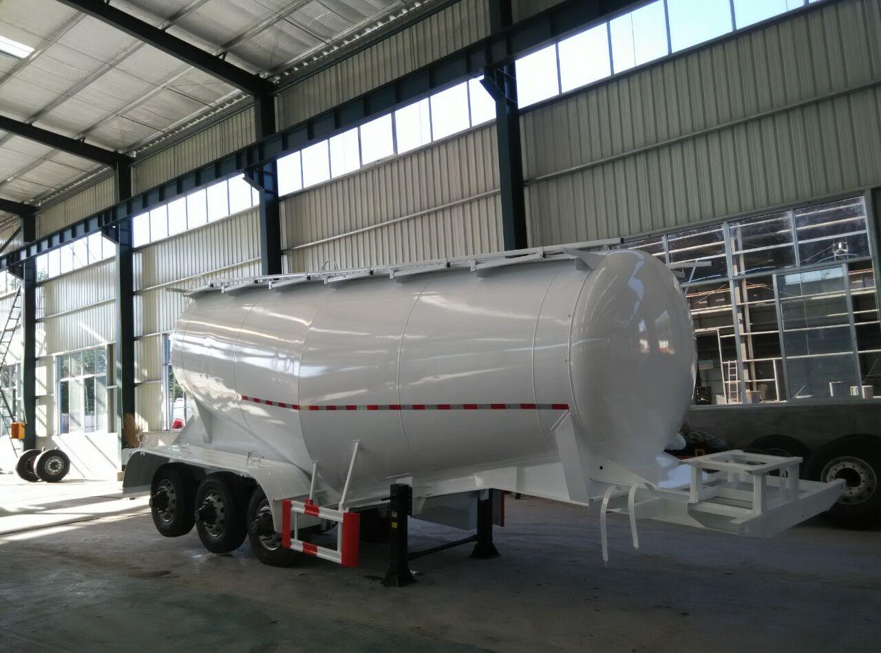 Sinotruk 3 Axles 35m3 Dry Powder Bulk Cement Tanker Semi Trailer