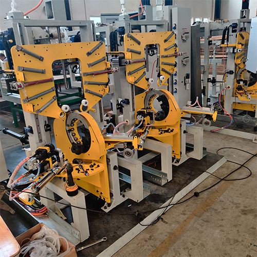 Tyre bead doublestation automatic packing machine