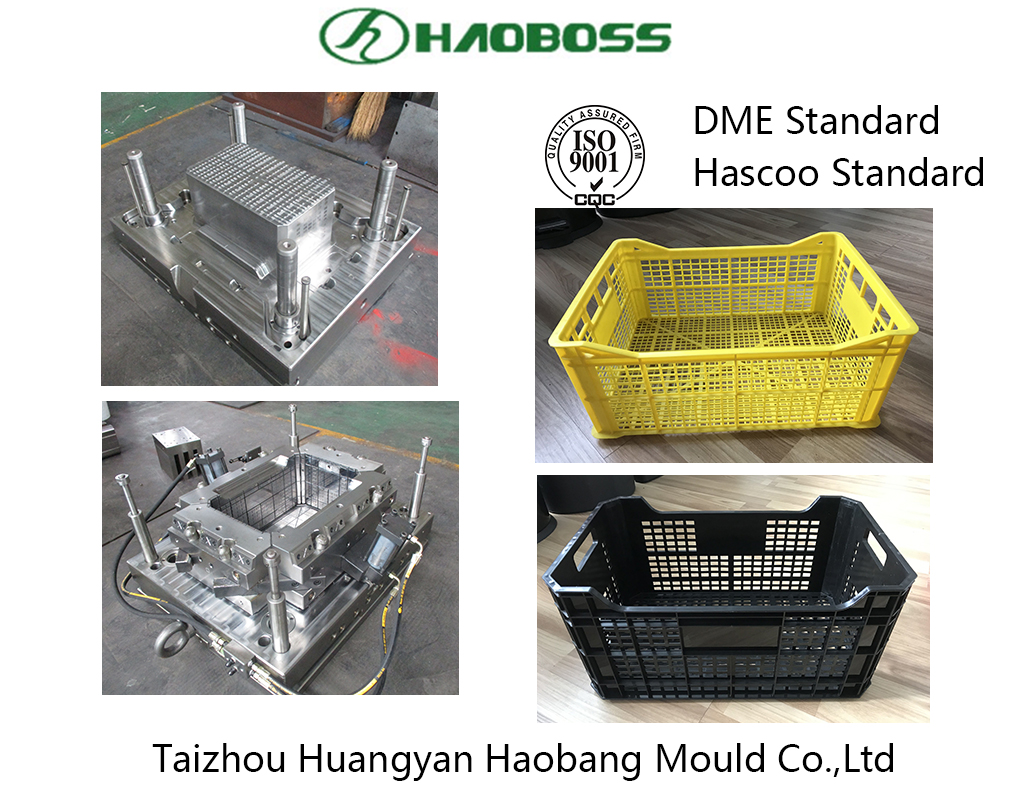 high quality customized plastic crate injection mould