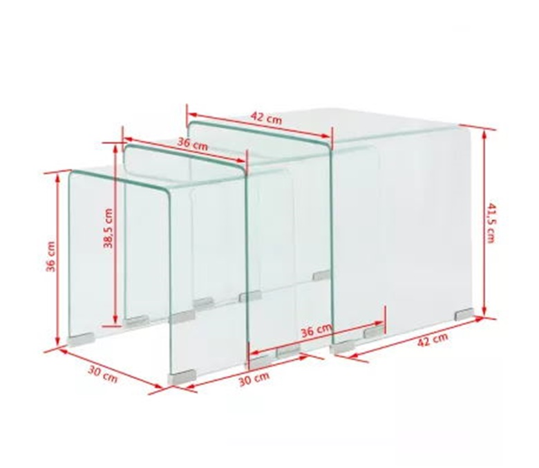 10mm clear hot bending glass table
