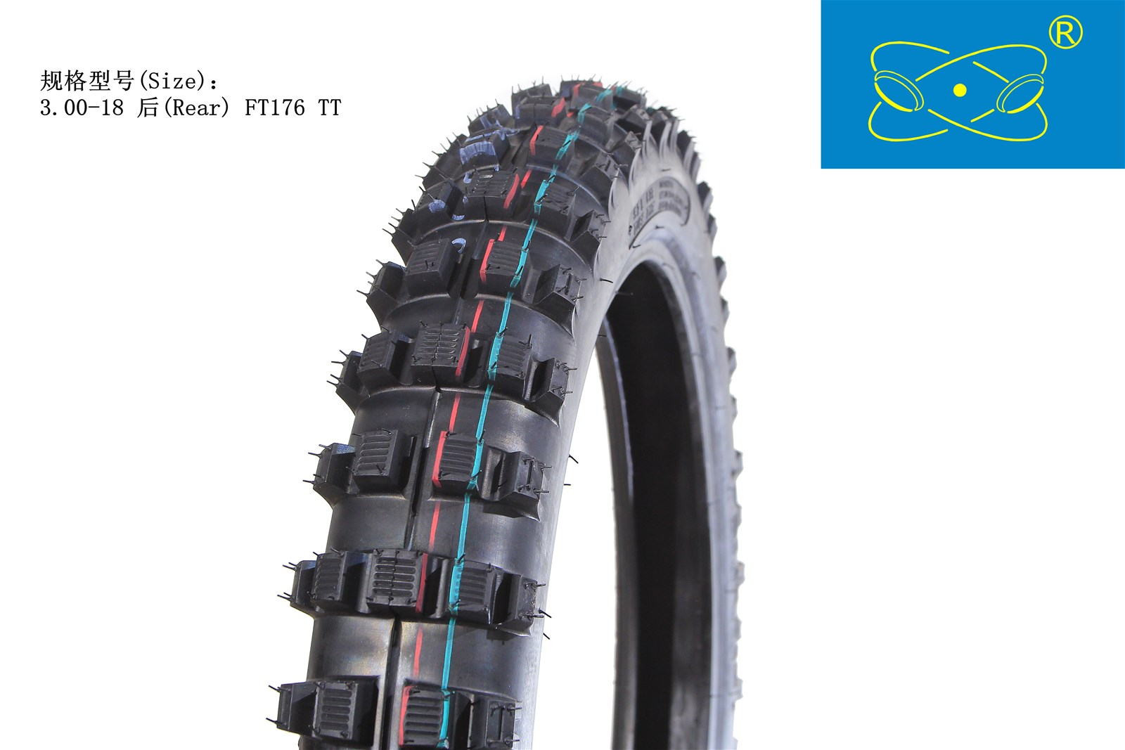 FT176 30018TT Natural Rubber Motorcycle Tire