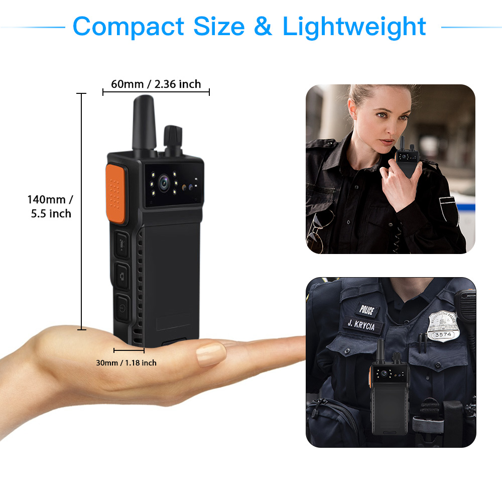 ONETHINGCAM Wifi Body Camera for Security Police Camera4G WalkieTalkie AIO Full HD 1296P 30fps 32G Memory