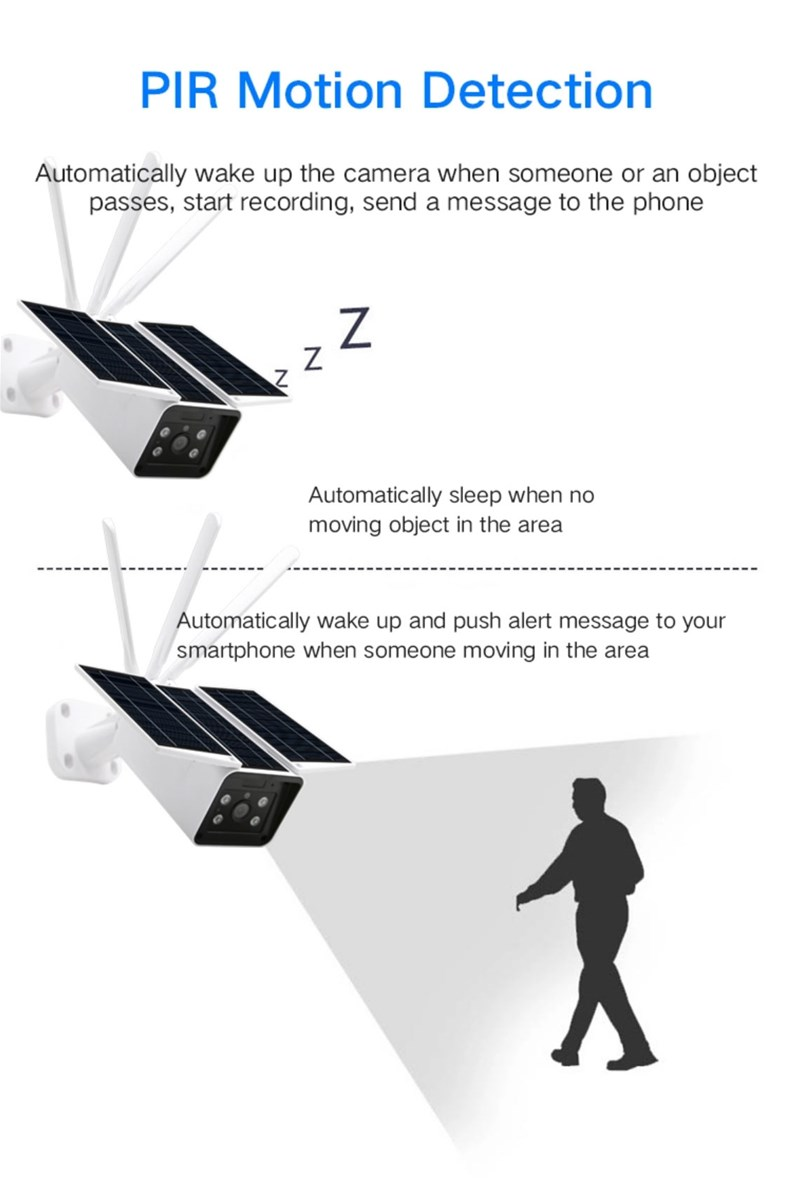 ONETHINGCAM 4G WiFi Security Camera Outdoor Wireless 1080P HD With CCTV System Solar Power2 Way VideoNight Vision