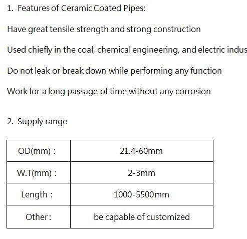 Calorized Ceramic Coated Oxygen Lance Pipe Shinto Lance OD214mm