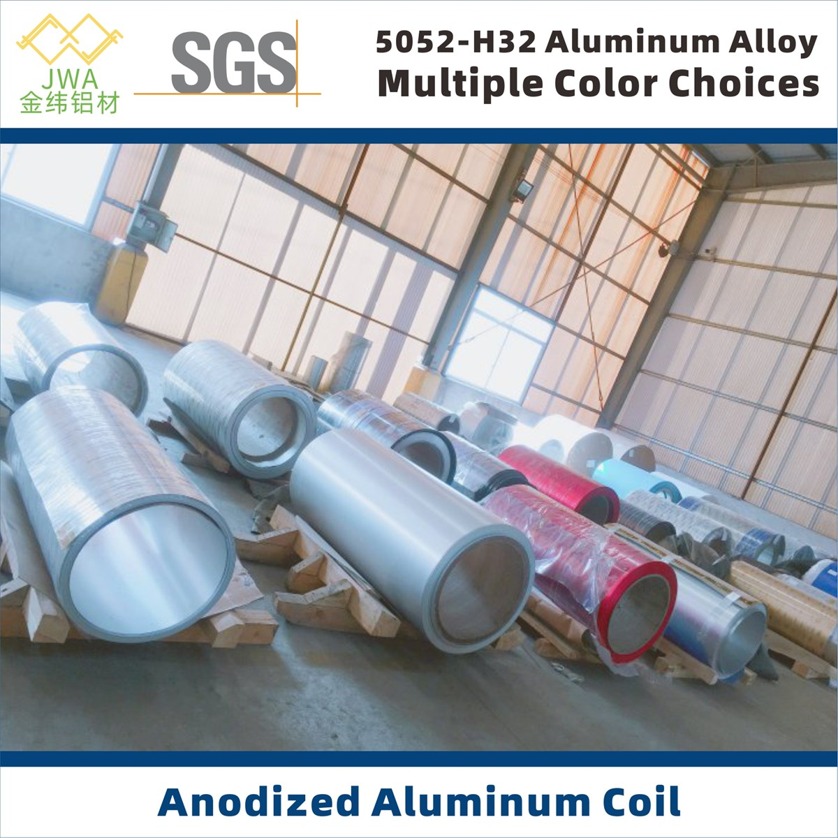 Multiple Color Anodized Aluminum Coil for Interior and Exterior Decoration Metal Building Facade Materials Anodising