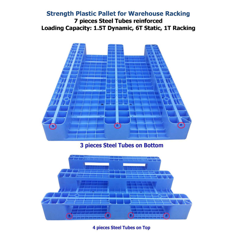12001000 Heavy duty Single Sides Cheap hdpe Plastic Pallets For Sale