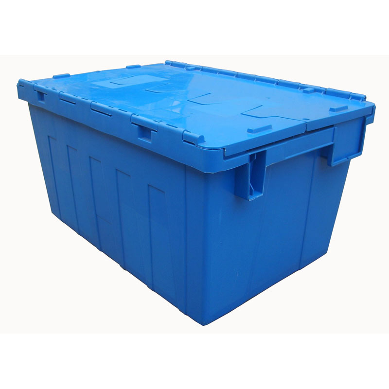 Plastic crate with Lid for warehouse storage and logistic