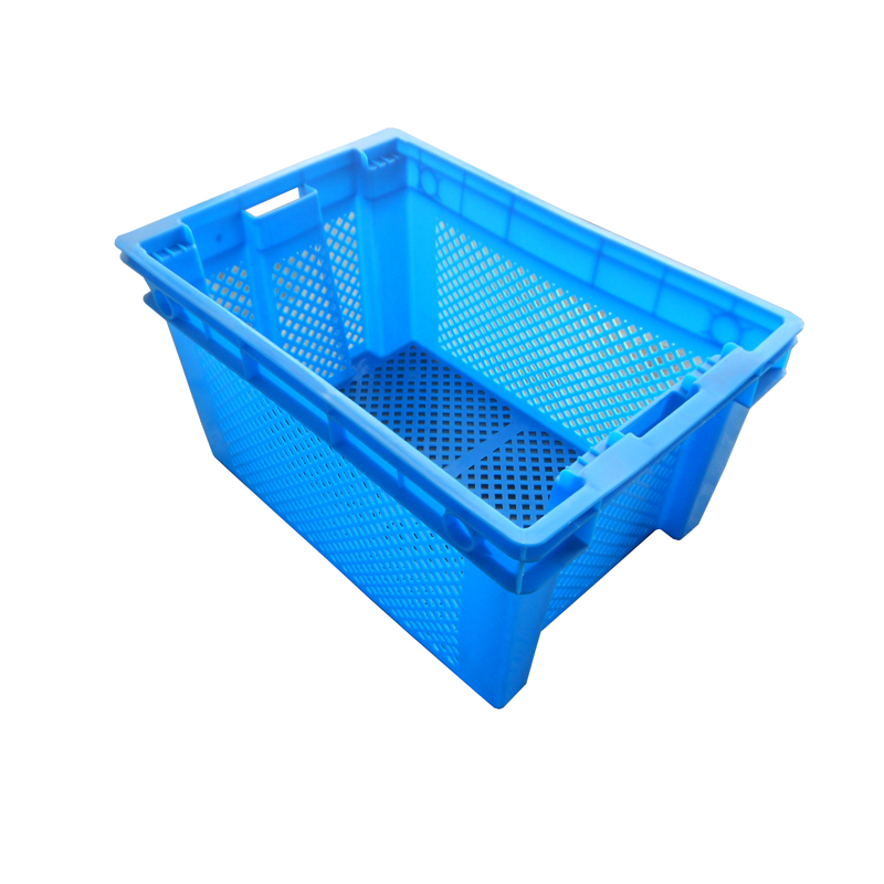 reusable mesh stackable food grade plastic basket for fruit and vegetable