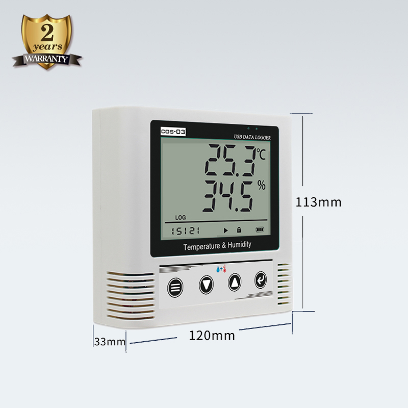 Cos03 USB temperature and humidity controller data logger for cool cabinet medicine