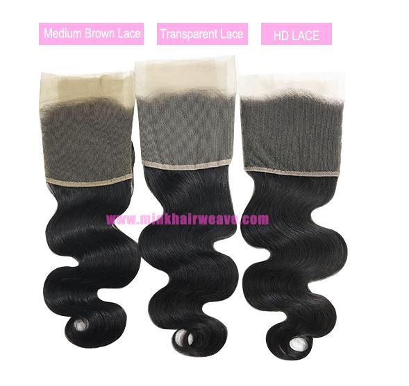 Free Part Wholesale Virgin Human Hair HD Lace Brazilian Hair Body Wave 55 Lace Closure