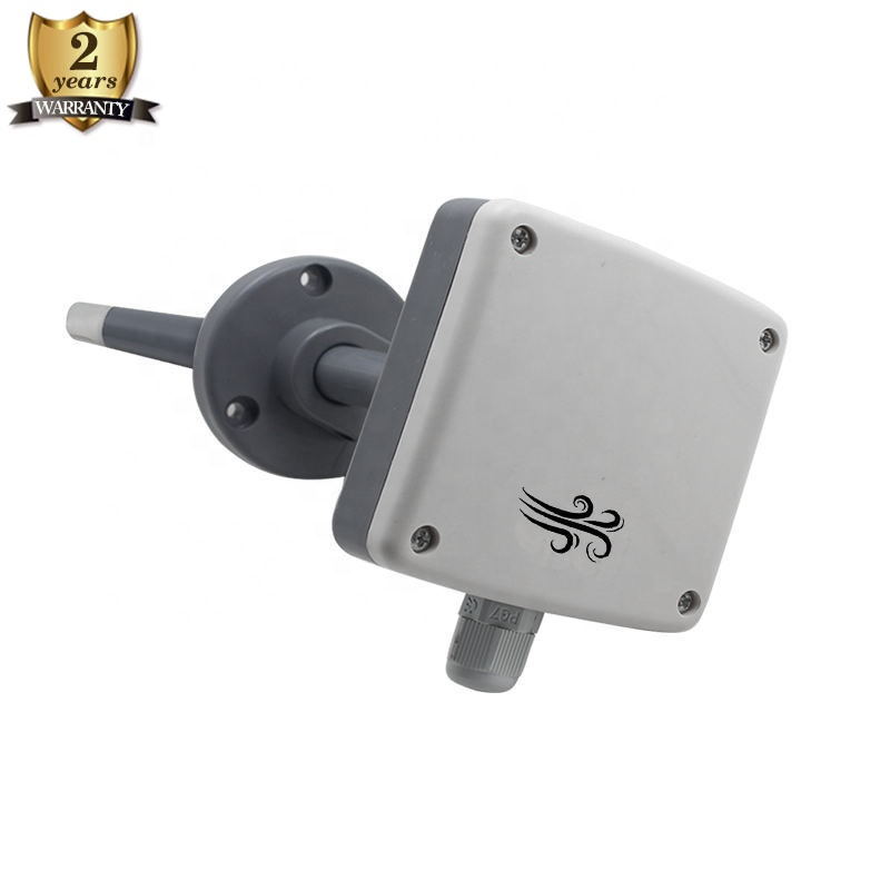 Widely Use RS485 modbus 420 ma Duct Mount Air Velocity Transmitter Sensor