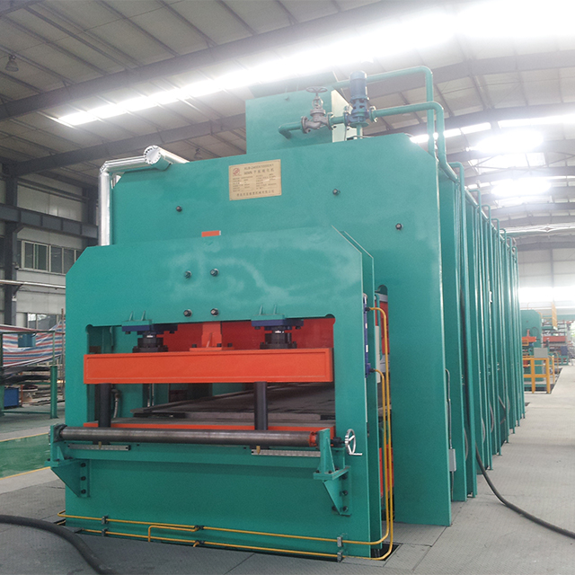 steel cord conveyor belt making linebelts plate vulcanzing press
