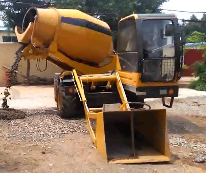 Keenguard equipment 35m3 mobile self loading concrete mixer truck