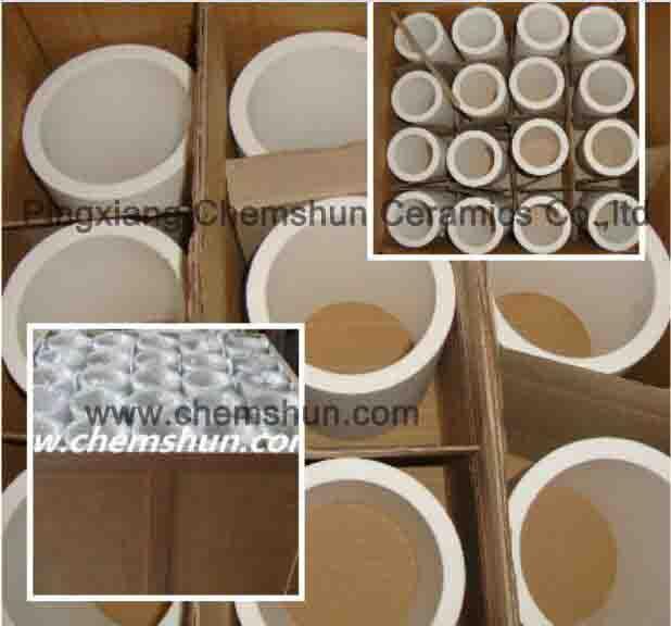 Alumina ceramic sleeve lined pipe elbow for mining