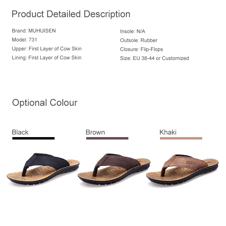 New Collection Good Looking Genuine Leather Flip Flops with Full Range Air Circulation