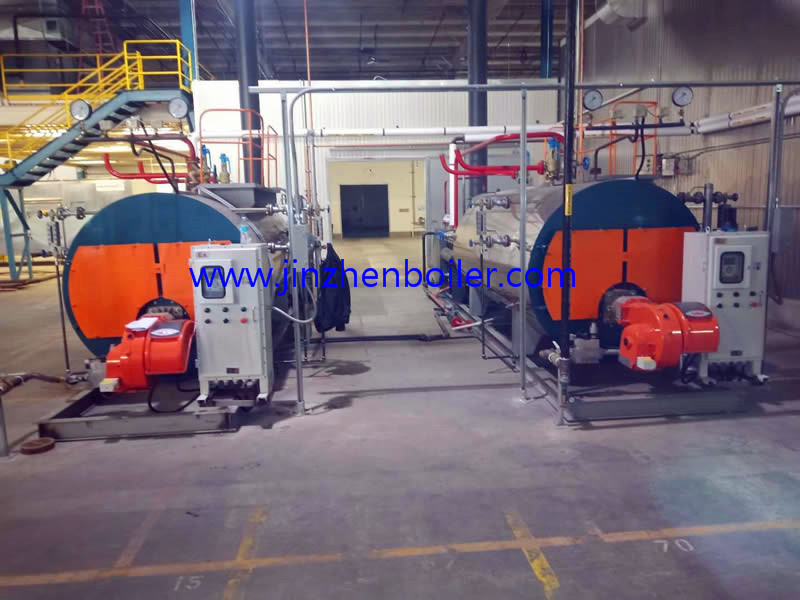1th 70hp 1000kgh WNS Series industrial fire Tube Horizontal Steam Boilers for Egypt Machinery Plant