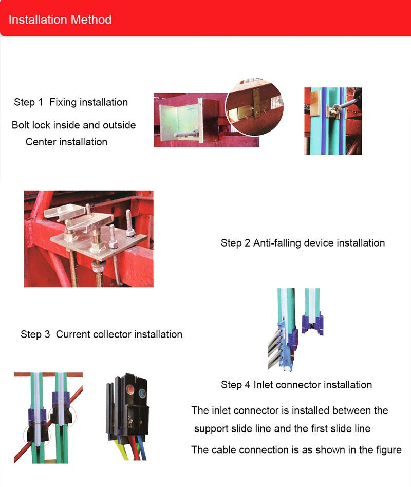 New desigin 16mm225mm2 Conductor Busbar Conductor Bars for Construction hoist