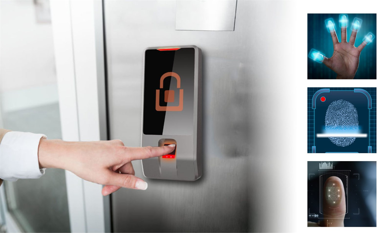 Wholesale Waterproof IP64 Biometric Touch Sensor Fingerprint Recognition Unlock LED display Integrated Access Control