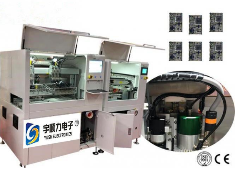 Automated In line PCB Depaneling Router with AC Fiber Optic Servo Motor