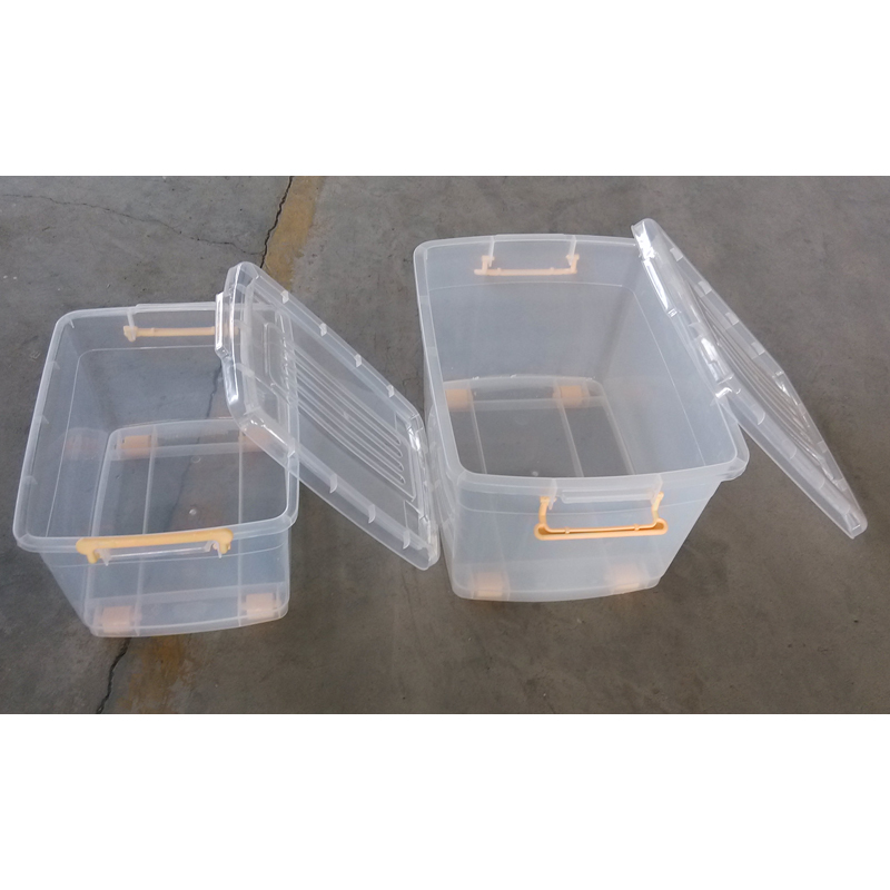 Clear Storage boxes for home storage with lid and wheels