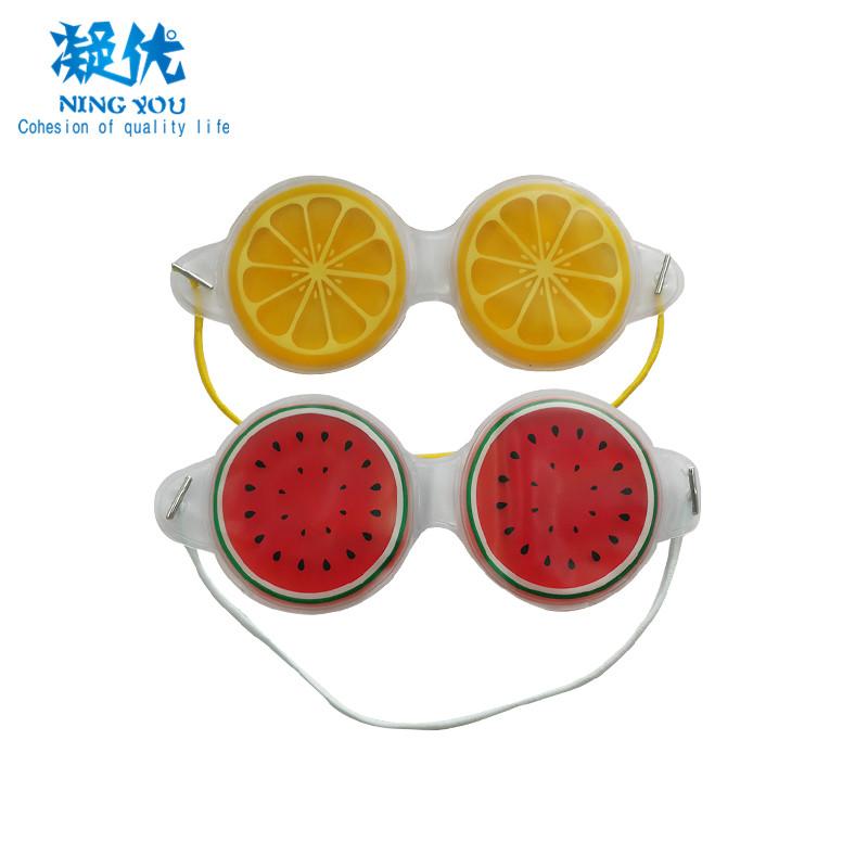 Custom Fruit Design Gel Eye Mask Hot Cold Cooling Gel for puffy eye