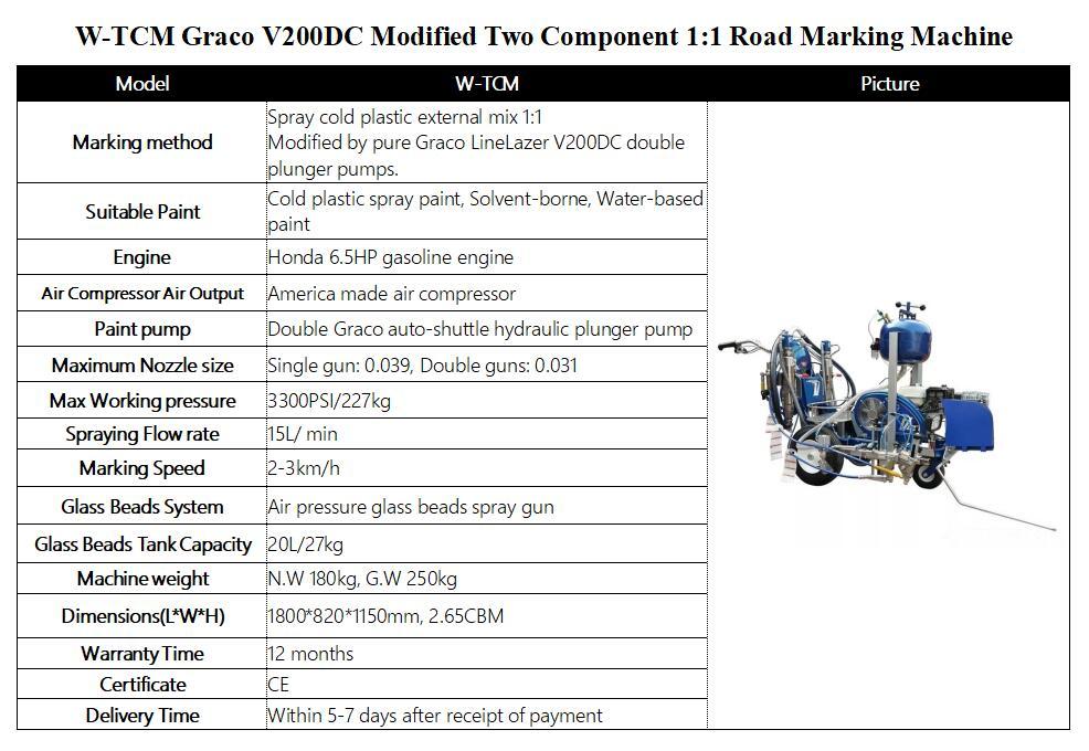 Road Marking Machine WTCM Graco V200DC Modified 2K Road Marking Machine External Mix 11