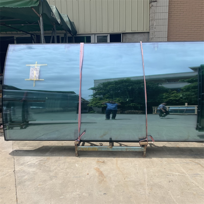 6mm9A6mm clear curved tempered insulated glass
