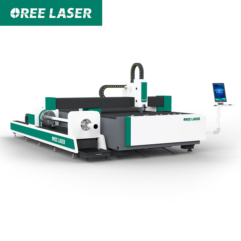 1000W ORFT fiber Laser cutter for carbon sheet and tube