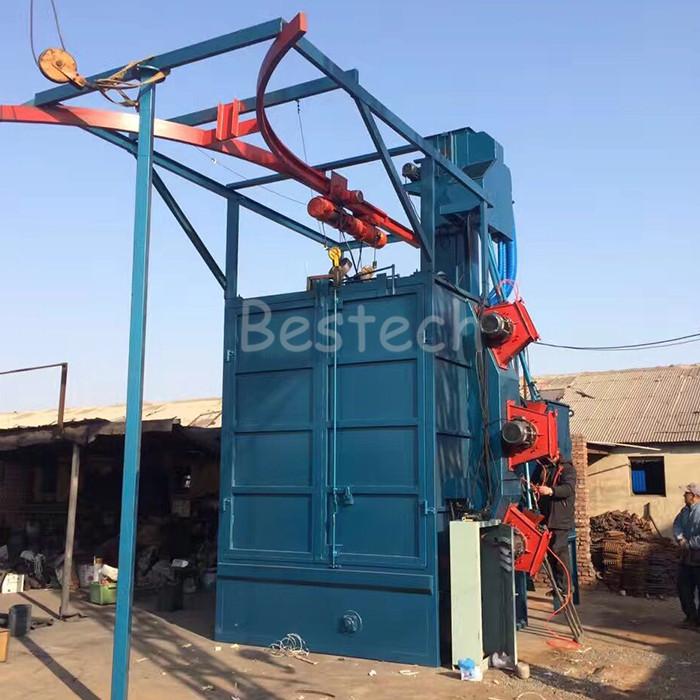 Hanger hook shot blasting machine made in China