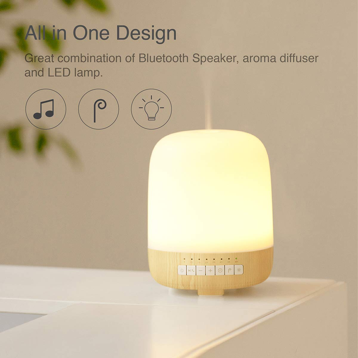 Aromatherapy Diffuser Bluetooth Speaker With LED Color Changing
