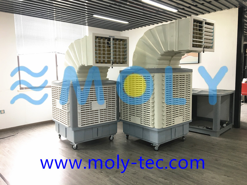 Moly workshop ducting evaporative air coolers